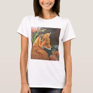 fox landscape paint painting hand art nature T-Shirt