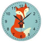 Fox Large Clock