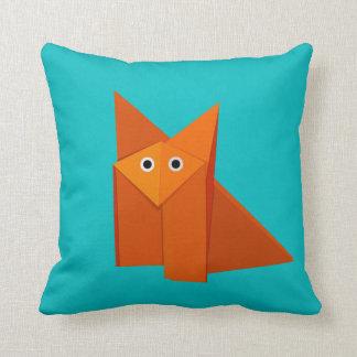 Fox lindo brillante de Origami Almohada
