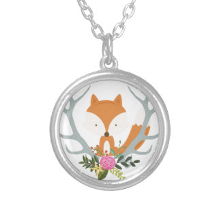 Fox lindo collar plateado