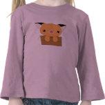Fox lindo de Kawaii en una camiseta de la caja
