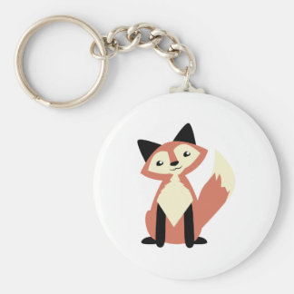 Fox lindo de la Cabeza-inclinación Llavero