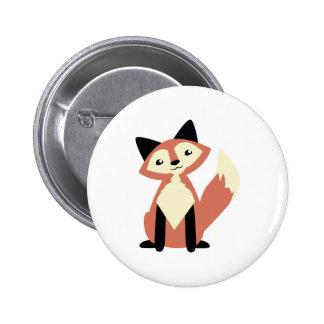 Fox lindo de la Cabeza-inclinación Pins