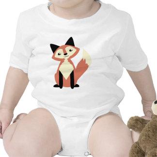 Fox lindo de la Cabeza-inclinación Camiseta