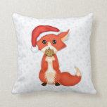 Fox lindo de la galleta que lleva un gorra de Sant Almohada