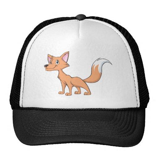 Fox lindo de los jóvenes gorros bordados