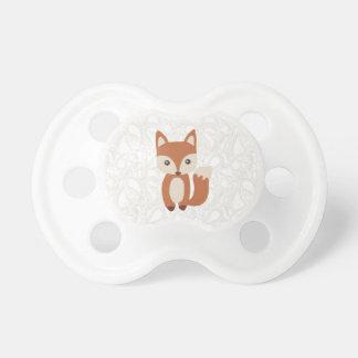 Fox lindo del bebé chupetes