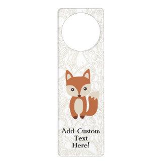 Fox lindo del bebé colgantes para puertas