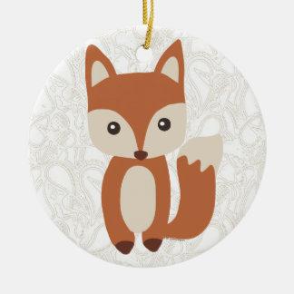 Fox lindo del bebé ornamento para reyes magos