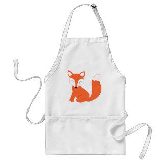 Fox lindo del bebé del arbolado delantal