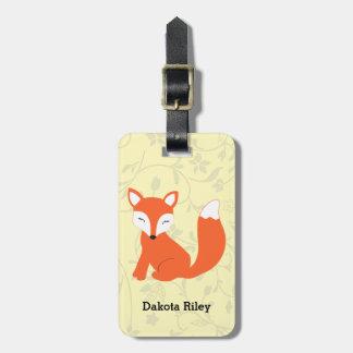 Fox lindo del bebé del arbolado etiqueta para equipaje