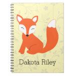 Fox lindo del bebé del arbolado libro de apuntes