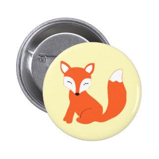 Fox lindo del bebé del arbolado pin redondo 5 cm