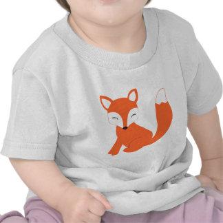 Fox lindo del bebé del arbolado camisetas