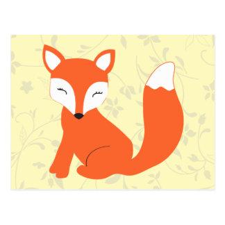 Fox lindo del bebé del arbolado tarjeta postal