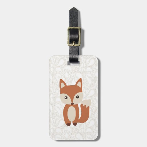 Fox lindo del bebé etiquetas maleta