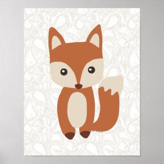 Fox lindo del bebé impresiones