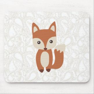 Fox lindo del bebé mouse pads