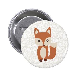 Fox lindo del bebé pin redondo 5 cm