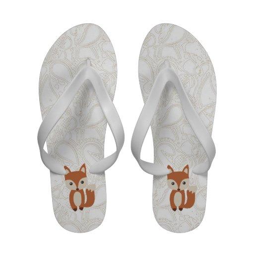 Fox lindo del bebé sandalias