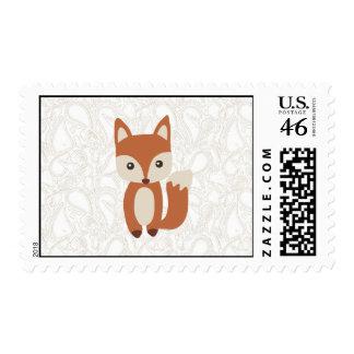 Fox lindo del bebé franqueo