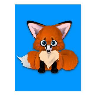 Fox lindo del bebé postal