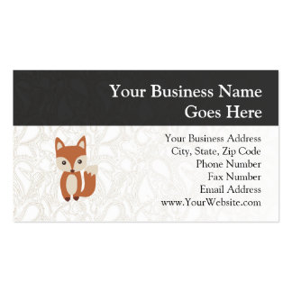 Fox lindo del bebé tarjetas de visita