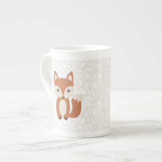 Fox lindo del bebé tazas de china