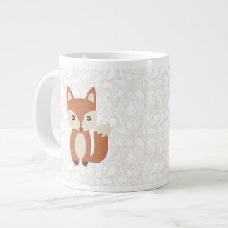 Fox lindo del bebé tazas extra grande