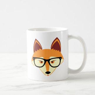 Fox lindo del inconformista con los vidrios taza clásica