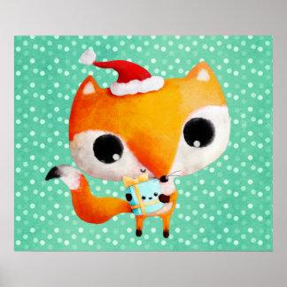 Fox lindo del navidad posters