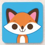 Fox lindo en azul posavaso