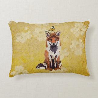 Fox & Little Gold Bird Pillow