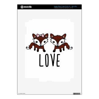 Fox love iPad 3 skin