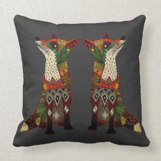 fox love lead linen throw pillow