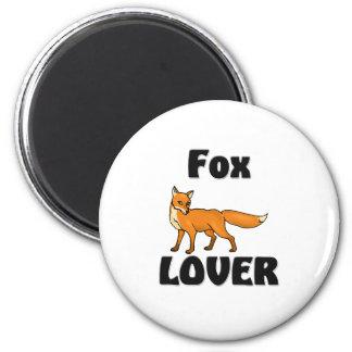 Fox Lover 2 Inch Round Magnet