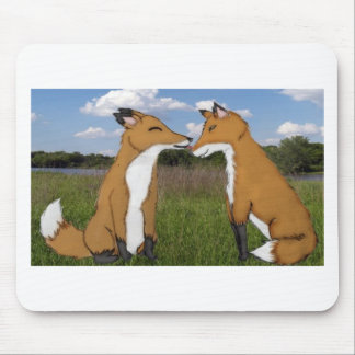 Fox Lovers Mouse Pad