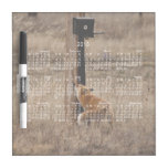 Fox Loves Utility Pole; 2013 Calendar Dry Erase Boards