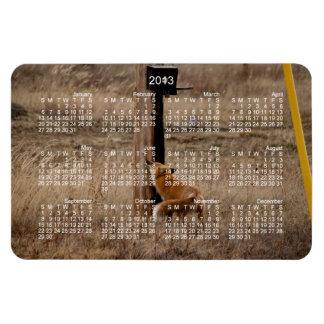 Fox Loves Utility Pole; 2013 Calendar Magnet