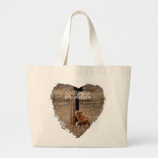 Fox Loves Utility Pole; Customizable Tote Bags