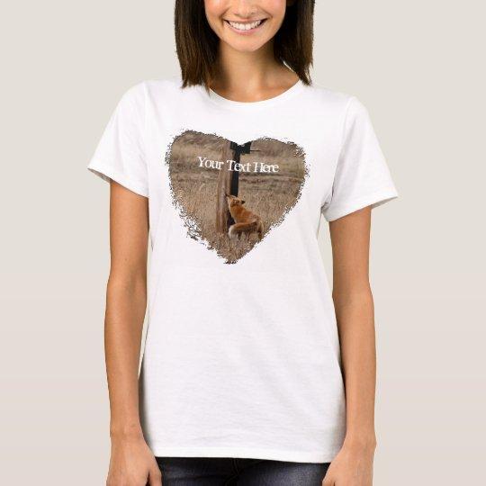 Fox Loves Utility Pole; Customizable T-Shirt