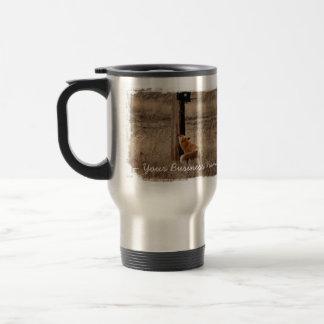 Fox Loves Utility Pole; Promotional 15 Oz Stainless Steel Travel Mug