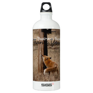 Fox Loves Utility Pole; Promotional SIGG Traveler 1.0L Water Bottle