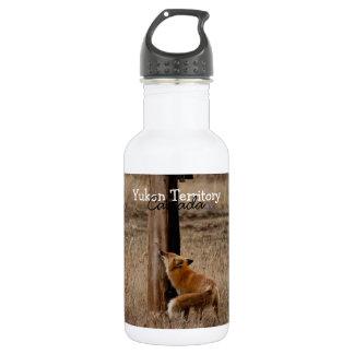 Fox Loves Utility Pole; Yukon Territory Souvenir 18oz Water Bottle