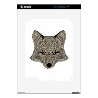 Fox metallic fox art collection decal for iPad 2