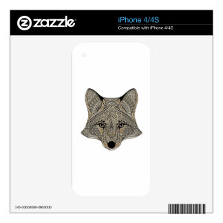 Fox metallic fox art collection decal for the iPhone 4