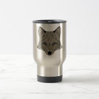 Fox metallic fox art collection travel mug
