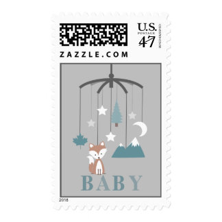 Fox Mobile Boy Baby Shower Postage