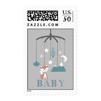 Fox Mobile Boy Baby Shower Postage