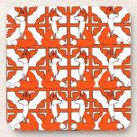 Fox motif  Square coasters